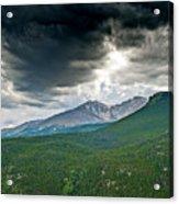 Dramatic Skies In Rocky Mountain National Park Colorado Acrylic Print