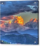 Dramatic Sky And Clouds Acrylic Print
