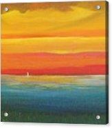 Dramatic Sky Beach Acrylic Print