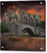 Dramatic Sky Over Castell Conwy Acrylic Print