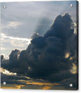 Dramatic Sky With Crepuscular Rays Acrylic Print