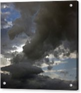 Dramatic Storm Clouds Against A Background Of Blue Sky Acrylic Print