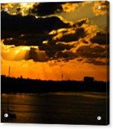 Dramatic Sunrise At Nassau Acrylic Print