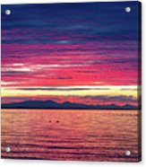 Dramatic Sunset Colors Over Birch Bay Acrylic Print