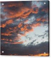 Dramatic Sunset Sky With Orange Cloud Colors Acrylic Print