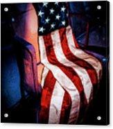 Draped American Flag Acrylic Print