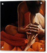 Draped In Orange Acrylic Print