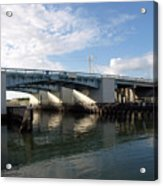 Drawbridge At Port Canaveral In Florida Acrylic Print