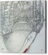 Drawing A Masterpiece  Acrylic Print