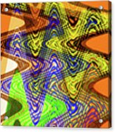 Drawing Color Squares Abstract Acrylic Print