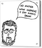 Drawing Comic Acrylic Print