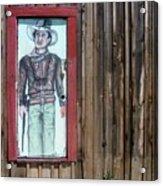 Drawing John Wayne Hondo  Medicine Horse Black Canyon City Arizona 2005 Acrylic Print
