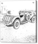 Drawing The Antique Car Acrylic Print