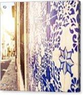Drawing Tiles On Bairro Alto Walls In Lisbon Acrylic Print