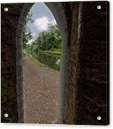 Drayton Footbridge Acrylic Print
