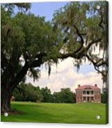 Drayton Hall Plantation Charleston Acrylic Print