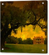 Drayton Hall Plantation In Charleston Acrylic Print