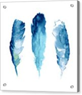 Dream Catcher Feathers Painting Acrylic Print