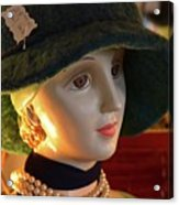 Dream Girl With Hat And Pearls Acrylic Print
