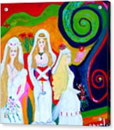 Dream Of A Jungian Marriage Acrylic Print by Angela Annas