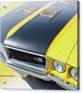 Streakin' Yellow Buick Acrylic Print