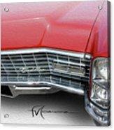 Redhead Cadillac Acrylic Print