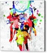 Dreamcatcher Grunge Acrylic Print