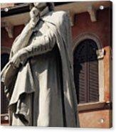 Dreaming Of Dante Verona Italy Acrylic Print