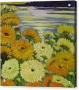 Dreamland Flowers Acrylic Print