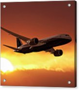 Dreamliner In The Sun Acrylic Print
