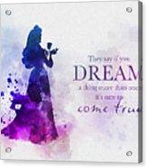 Dreams Can Come True Acrylic Print