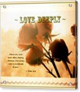 Dreams In Roses - Vintage - Verse Acrylic Print