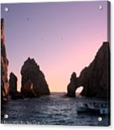 Dreamy Cabo Sunset The Arch Acrylic Print
