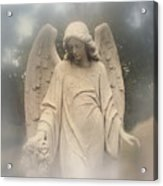 Dreamy Surreal Angel Art Fog Cemetery Acrylic Print
