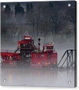 Dredge In Fog 2 Acrylic Print