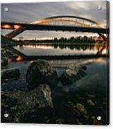 Dresden Waldschloesschenbridge Sunset Acrylic Print