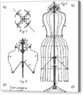 Dress Form Patent 1891  Acrylic Print