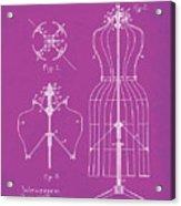 Dress Form Patent 1891 Pink Acrylic Print