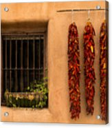Dried Chilis And Window Acrylic Print