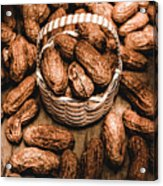 Dried Whole Peanuts In Their Seedpods Acrylic Print