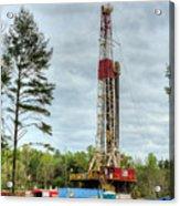 Drilling For Oil In South Alabama Acrylic Print