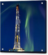 Drilling Rig Saskatchewan Acrylic Print by Mark Duffy