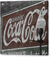 Drink Coca Cola Roanoke Virginia Acrylic Print