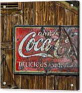 Drink Coca Cola Sign Acrylic Print