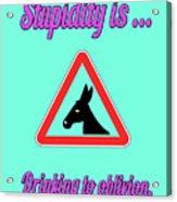 Drinking Bigstock Donkey 171252860 Acrylic Print