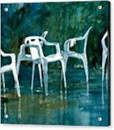 Drip Dry Acrylic Print by Elizabeth Carr