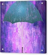 Dripping Poster Purple Rain Acrylic Print