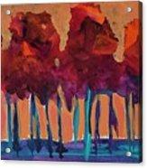 Dripping Tree #1 Acrylic Print