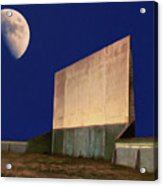 Drive-in Moon Acrylic Print