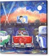 Drive-in Movie Theater Acrylic Print